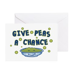 Give Peas A Chance Greeting Cards (Pk of 10)