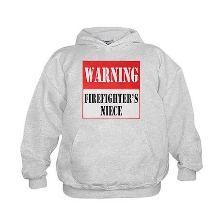 Firefighter Warning-Niece Kids Hoodie