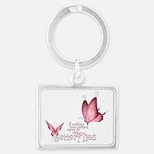 Pink Butterfly Landscape Keychain