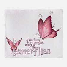 Pink Butterfly Throw Blanket