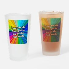 FIN-old-cool-bands-12x12 Drinking Glass