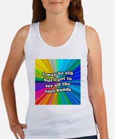 FIN-old-cool-bands-12x12 Women's Tank Top