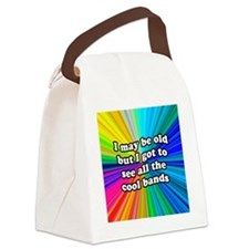 FIN-old-cool-bands-12x12 Canvas Lunch Bag