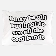 FIN-old-cool-bands-TEXTONLY Pillow Case