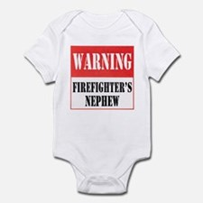 Firefighter Warning-Nephew Infant Bodysuit