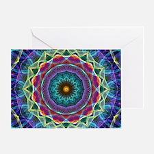 Inward flower Mandala Greeting Card