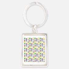 SLOT MACHINE Portrait Keychain