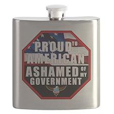 Proud USA Ashamed Government Flask