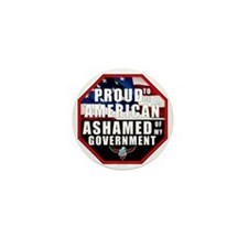Proud USA Ashamed Government Mini Button