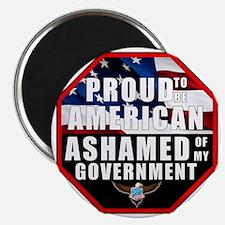 Proud USA Ashamed Government Magnet