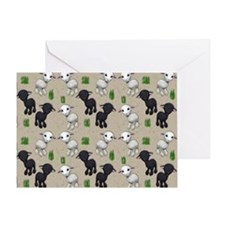 Lovable Lambs Greeting Card