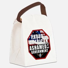 Proud USA Ashamed Government Canvas Lunch Bag