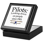 Pilots: Looking down on peopl Keepsake Box