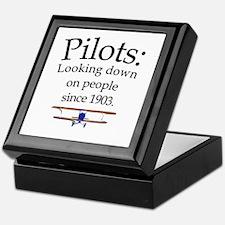 Pilots: Looking down on peopl Keepsake Box