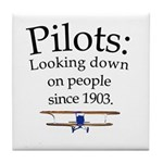 Pilots: Looking down on peopl Tile Coaster