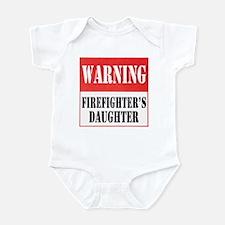 Firefighter Warning-Daughter Infant Bodysuit