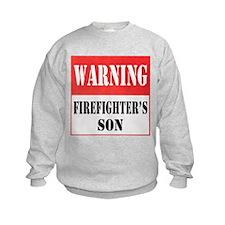 Firefighter Warning-Son Sweatshirt