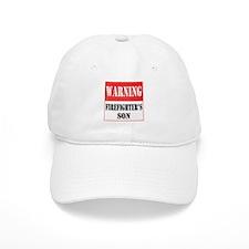 Firefighter Warning-Son Baseball Cap