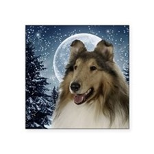 "Collie Square Sticker 3"" x 3"""