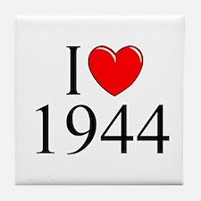"""""""I Love 1944"""" Tile Coaster"""
