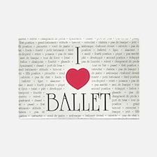 I Love Ballet Rectangle Magnet