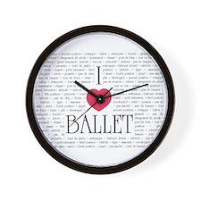 I Love Ballet Wall Clock