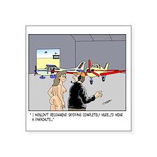 """Nude Skydiver Square Sticker 3"""" x 3"""""""