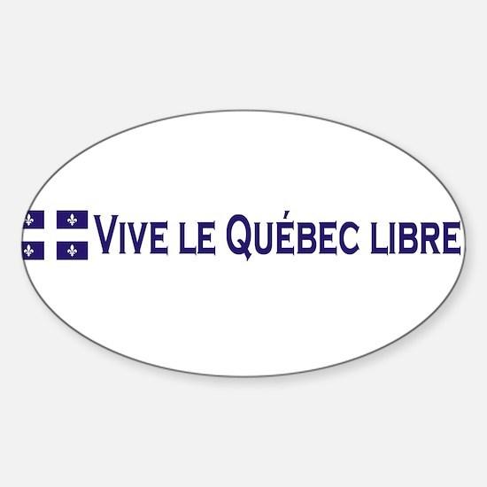 Vive Le Quebec Libre Oval Decal