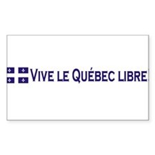 Vive Le Quebec Libre Rectangle Decal
