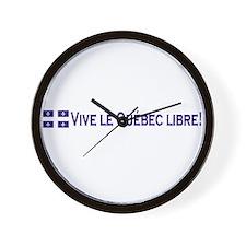 Vive Le Quebec Libre Wall Clock