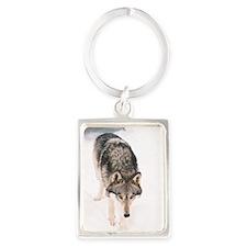 """Lone  Wolf"" Portrait Keychain"