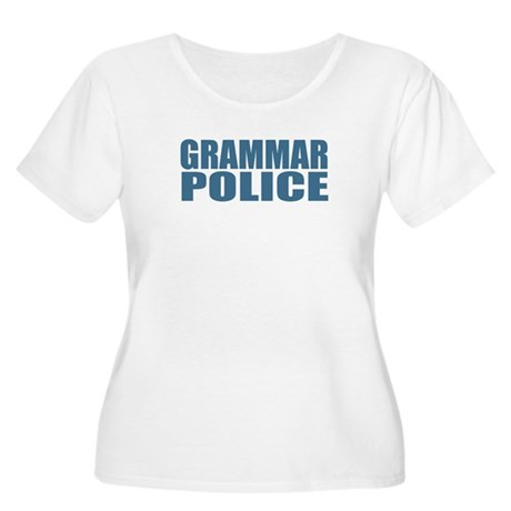 Grammar Police Women's Plus Size Scoop Neck T-Shir
