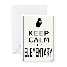 Keep Calm its Elementary! Greeting Card