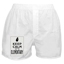 Keep Calm its Elementary! Boxer Shorts