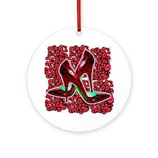 Red Cougar Stilettos Round Ornament