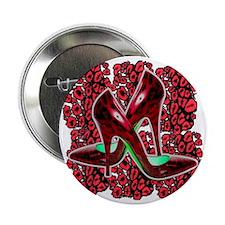 """Red Cougar Stilettos 2.25"""" Button"""