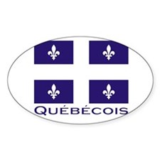 Quebecois Oval Decal