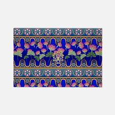 Lotus Rectangle Magnet