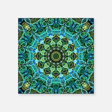 "Owl Eyes Mandala Square Sticker 3"" x 3"""
