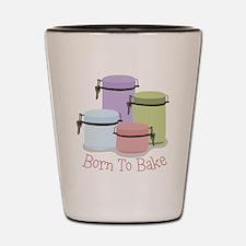 Born To Bake Shot Glass