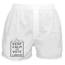 Keep Calm  Vote Labour Boxer Shorts