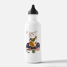 maneki-neko lucky cat Water Bottle