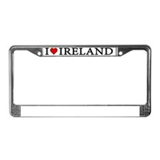 I Love Ireland 3 License Plate Frame