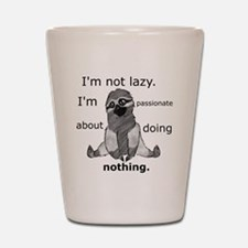 Lazy sloth Shot Glass