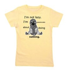 Lazy sloth Girl's Tee