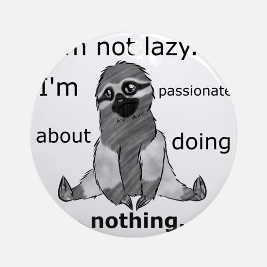 Lazy sloth Round Ornament