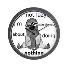 Lazy sloth Wall Clock