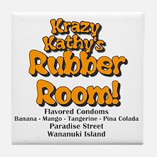 Krazy Kathys Rubber Room Tile Coaster