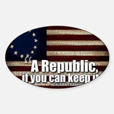 A Republic Sticker (Oval)