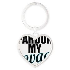 PARDON MY SWAG Turquoise Heart Keychain